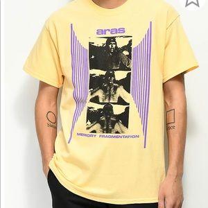 Yellow cotton t-shirt Zumiez ARAS M